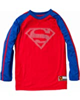 Superman Boys Long Sleeve Crew Neck Logo Jersey