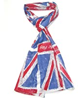 "Union Jack Scarf - Official IWM Union Jack Scarf with ""Rally round the flag"" and other slogans printed all over the scarf"