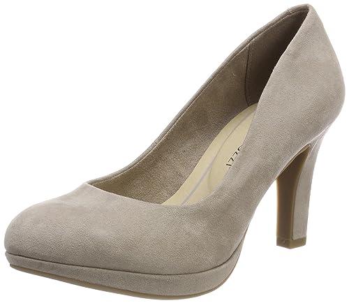Marco Tozzi 22428, Zapatos de Tacón para Mujer, Beige (Taupe), 36 EU
