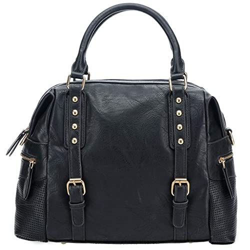Amazon.com  Handbags for Women Large Designer Ladies Hobo bag Bucket Purse  Leather(Black)  Shoes 48a34fdf88aab