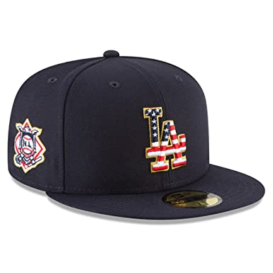New Era Los Angeles Dodgers Navy 4TH of July Cap 59fifty 5950 Fitted MLB  Limited Edition fd94aa37d5c
