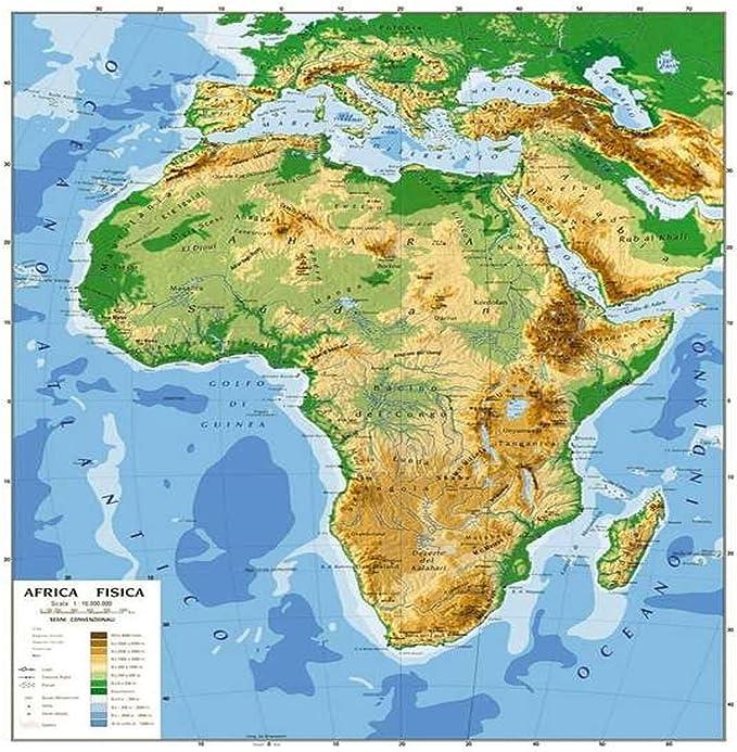 Cartina Europa E Africa.Cartina Carta Geogrifica Africa Bifacciale Fisica Politica 100x140cm Plastificata Amazon It Cancelleria E Prodotti Per Ufficio