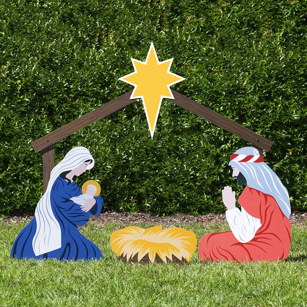Outdoor Nativity Store Holy Family Outdoor Nativity Set (Large, Color) 21-0115