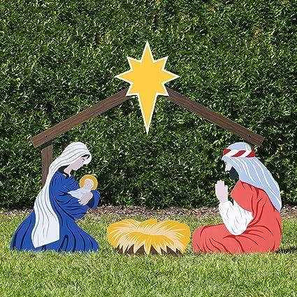 Christmas Nativity Set Outdoor.Outdoor Nativity Store Holy Family Outdoor Nativity Set Large Color