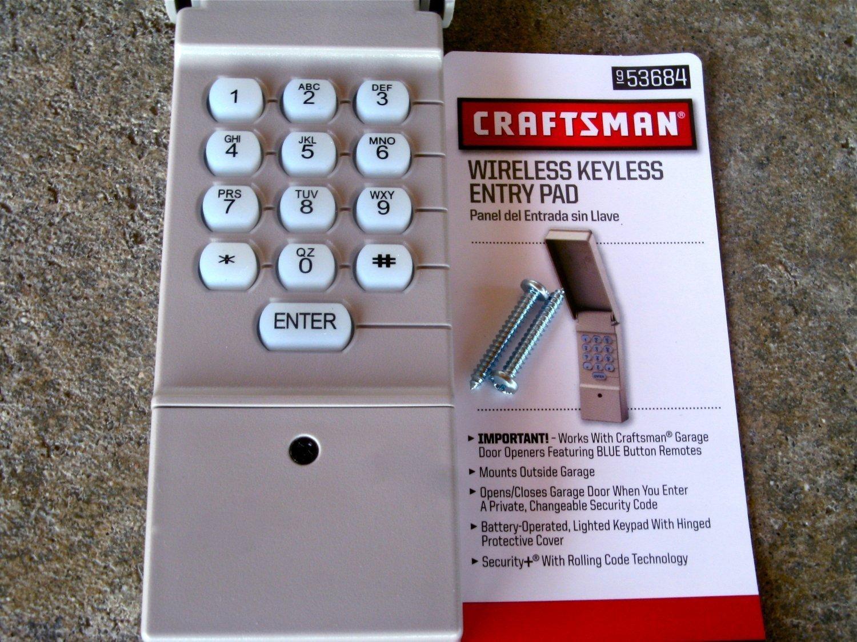 Craftsman 13953684 garage opener wireless keypad 953684 garage craftsman 13953684 garage opener wireless keypad 953684 garage door remote controls amazon rubansaba