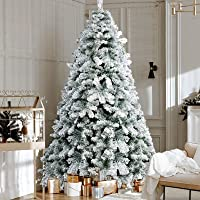 1.8M Christmas Tree 6FT Xmas Faux Snowy Tree Thick Foliage Jingle Jollys Holiday Decoration Indoor Décor Home Office…