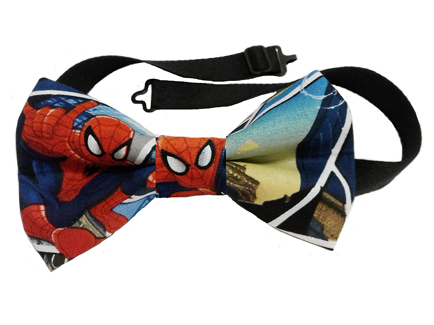 Spiderman Bow Tie Various Sizes Big and Tall, Adult, Children