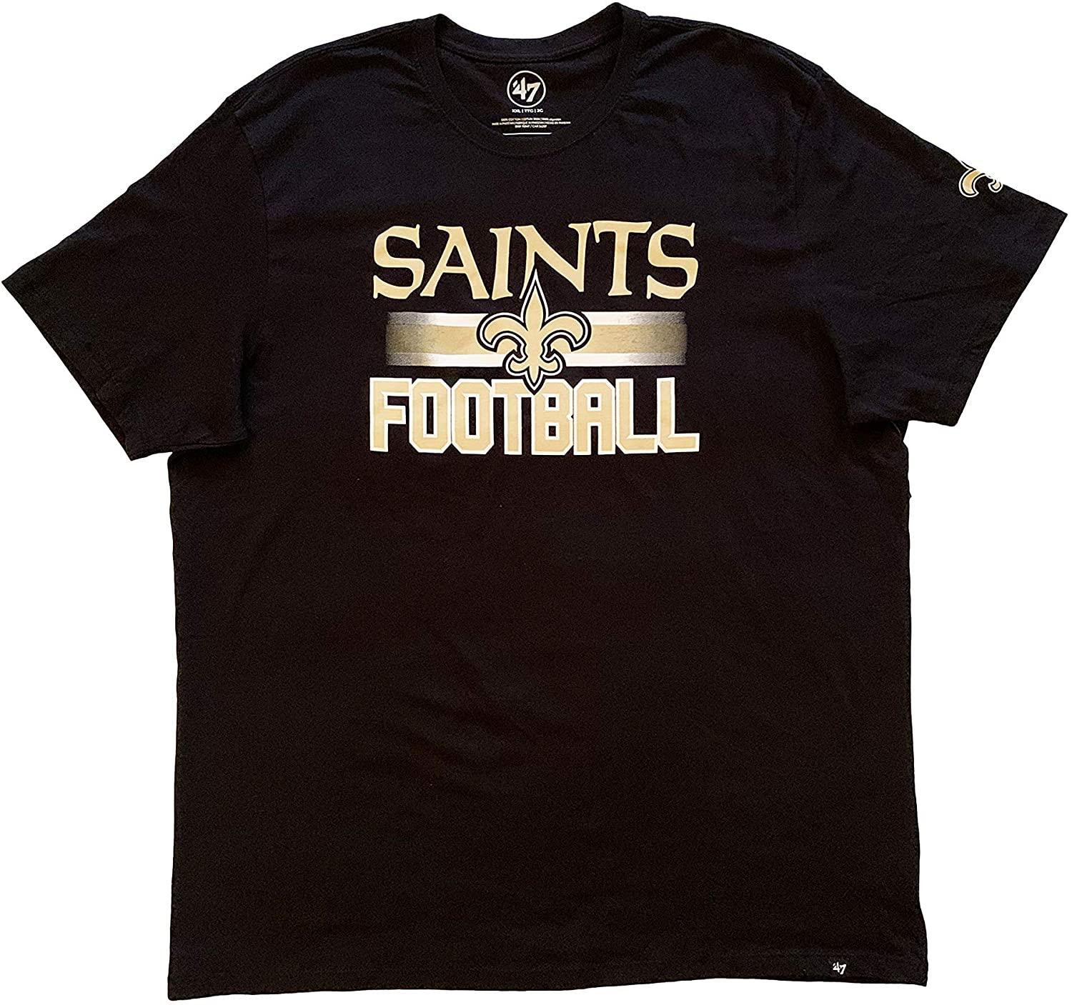 47 Brand Mens New Orleans Saints NFL Short Sleeve Crew Neck T-Shirt