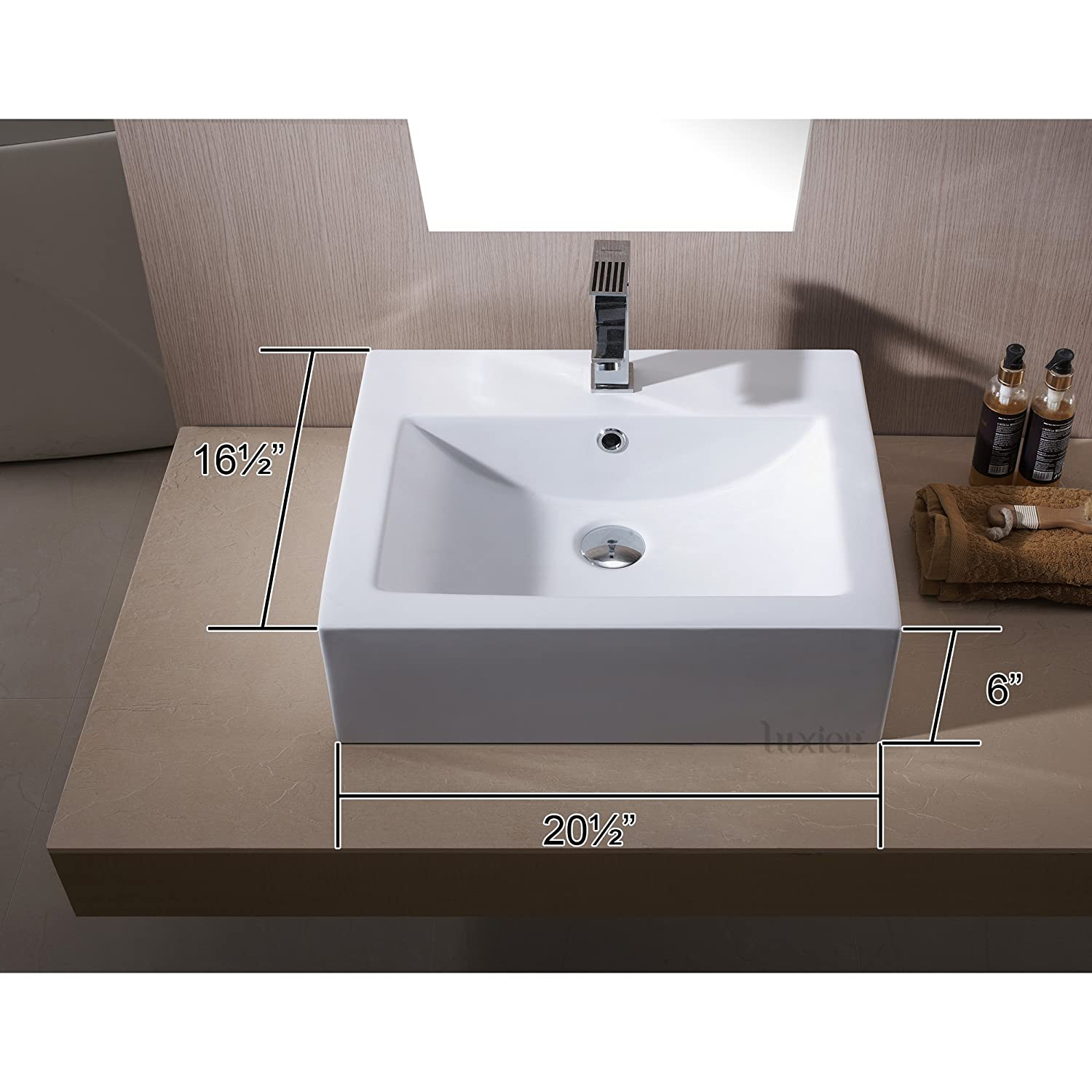 Luxier Cs Bathroom Porcelain Ceramic Vessel Vanity Sink Art