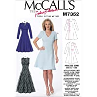 Mccall's Patterns 7352 OS,Misses Dresses,Sizes 6-22, (6-8-10)-(12-14-16)-(18-20-22)