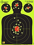 Splatterburst Targets - 18 x 24 inch - Silhouette Shooting Target - Shots Burst Bright Fluorescent Yellow Upon Impact…