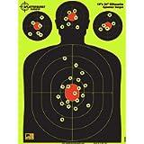 Splatterburst Targets - 18 x 24 inch - Silhouette Shooting Target - Shots Burst Bright Fluorescent Yellow Upon Impact…