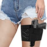 Accmor Leg Holster for Concealed Carry, Conceal Carry Gun Holsters Thig Garter Holster with Magazine Pocket/Pouch for Women L