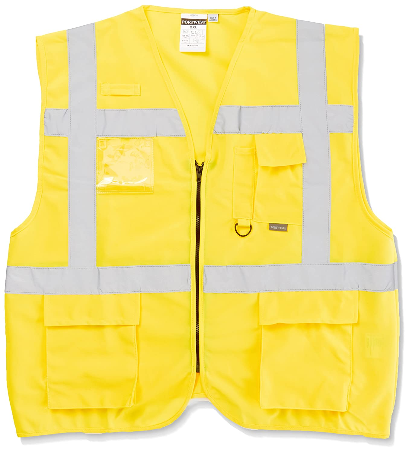 Portwest Men's S476YERXXL Hi-Vis Vest, Yellow, 2X-Large US476YERXXL