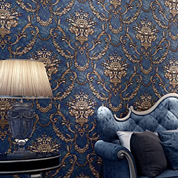 Blooming wall vintage french damasks high standard textured wallpaper wall paper for livingroom kitchen bedroom