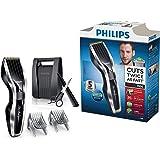 Philips Tagliacapelli HC7450/80 Serie 7000 Kit Regolacapelli con Tecnologia DualCut e Funzione Turbo, Lame in Titanio, 24 Lunghezze, Accessori