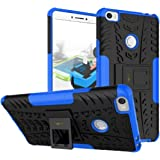 Heartly Xiaomi Mi Max Back Cover Kick Stand Rugged Shockproof Tough Hybrid Armor Dual Layer Bumper Case - Power Blue