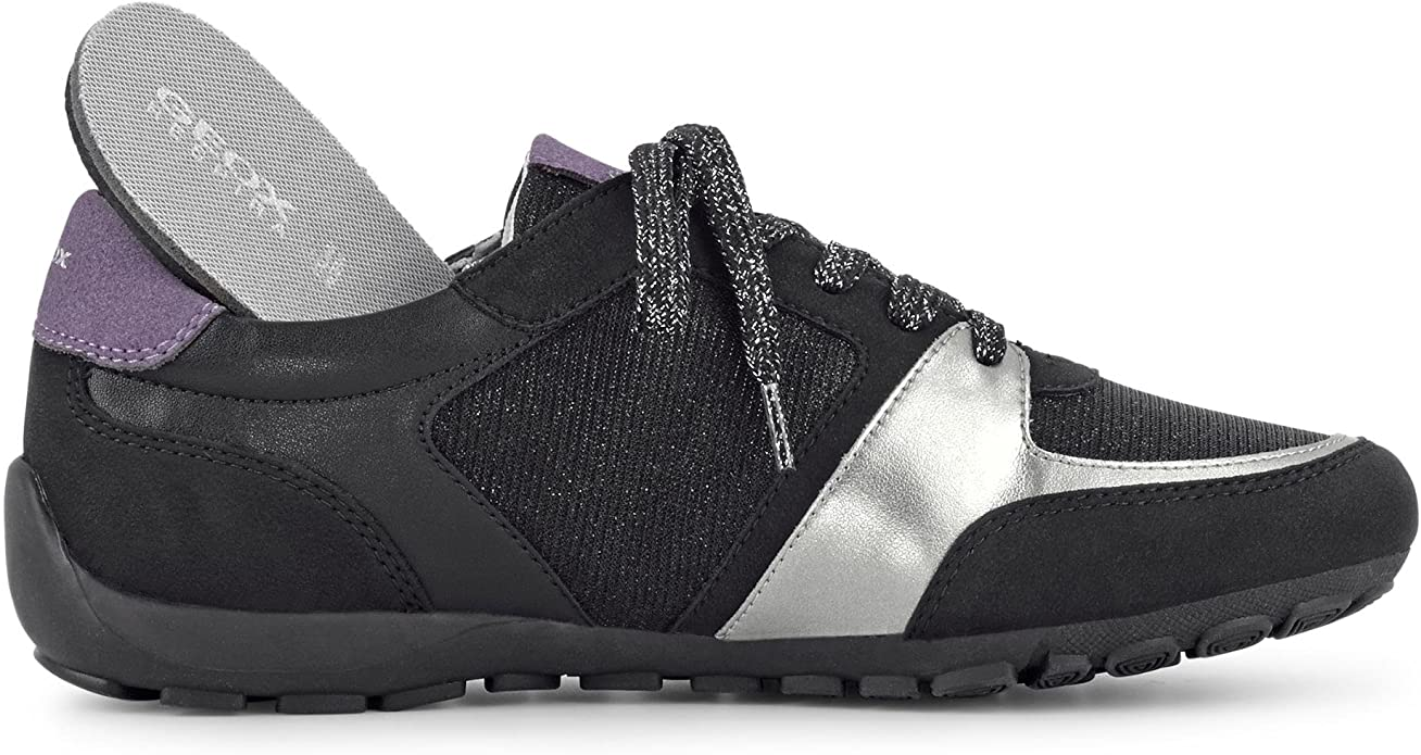 Geox Ravex Women's Low Sneaker Black: Geox SP: