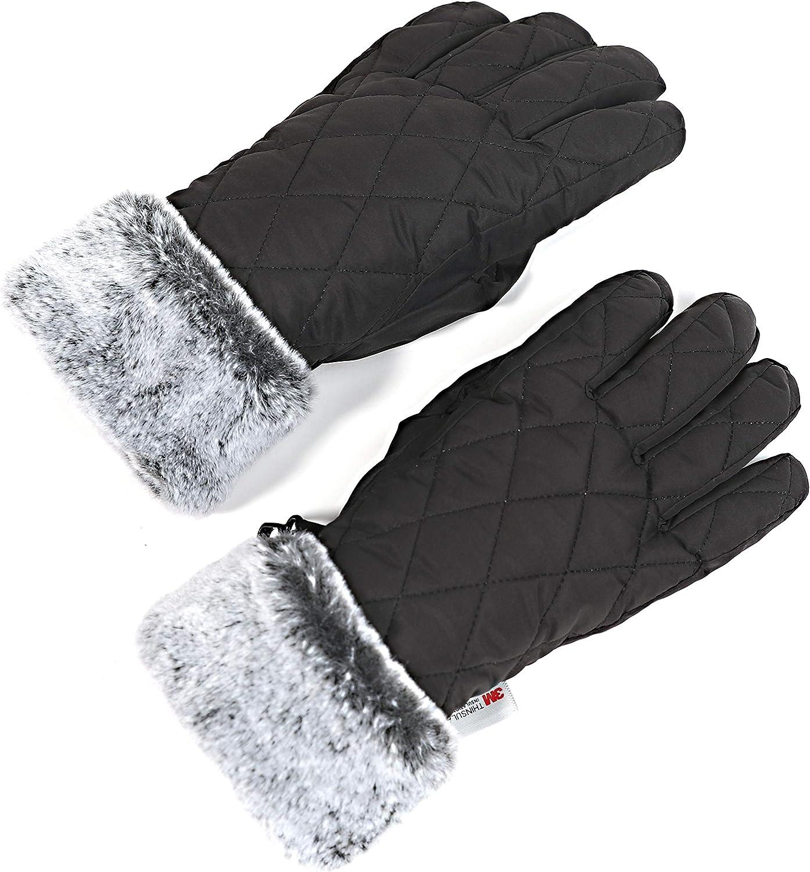 accsa Women Winter Ski Glove Waterproof 3M Thinsulate Warm Windproof Snow