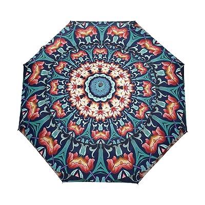 LAVOVO Cute Llama Pattern Umbrella Double Sided Canopy Auto Open Close Foldable Travel Rain Umbrellas durable modeling