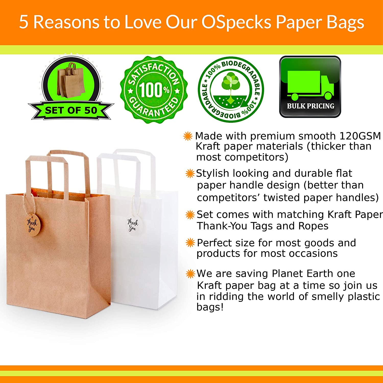 Papel Kraft bolsas de papel con asas para compras, bolsa de regalo ...