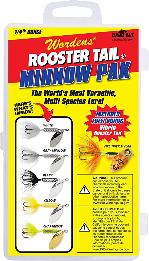 WORDENS ROOSTER TAIL MINNOW SEA TROUT /& SALMON SPINNING.. FISHING LURE  TROUT
