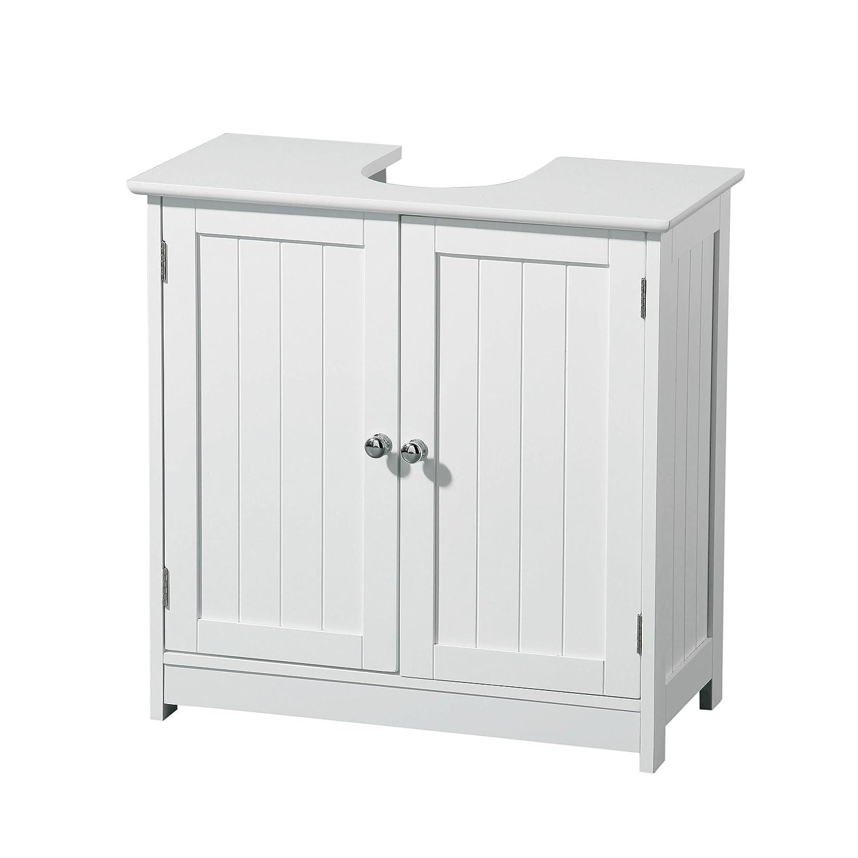 Under sink cabinet bathroom - Premier Housewares Portland Under Sink Cabinet White Amazon Co Uk Kitchen Home