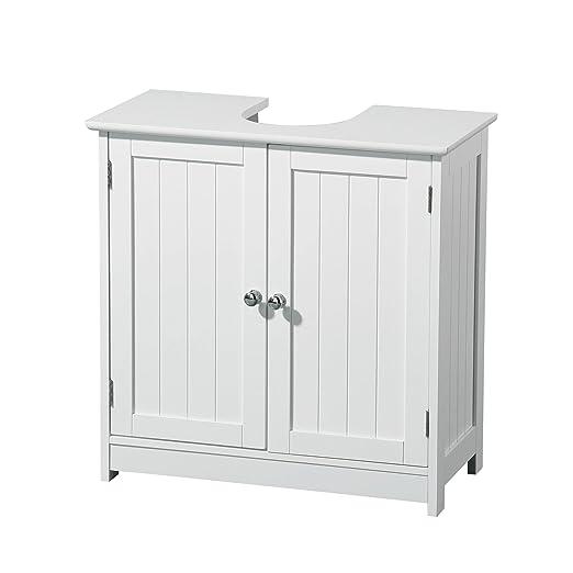 45 opinioni per Premier Housewares 2402060 Armadietto Sotto Lavabo, in Legno, Bianco