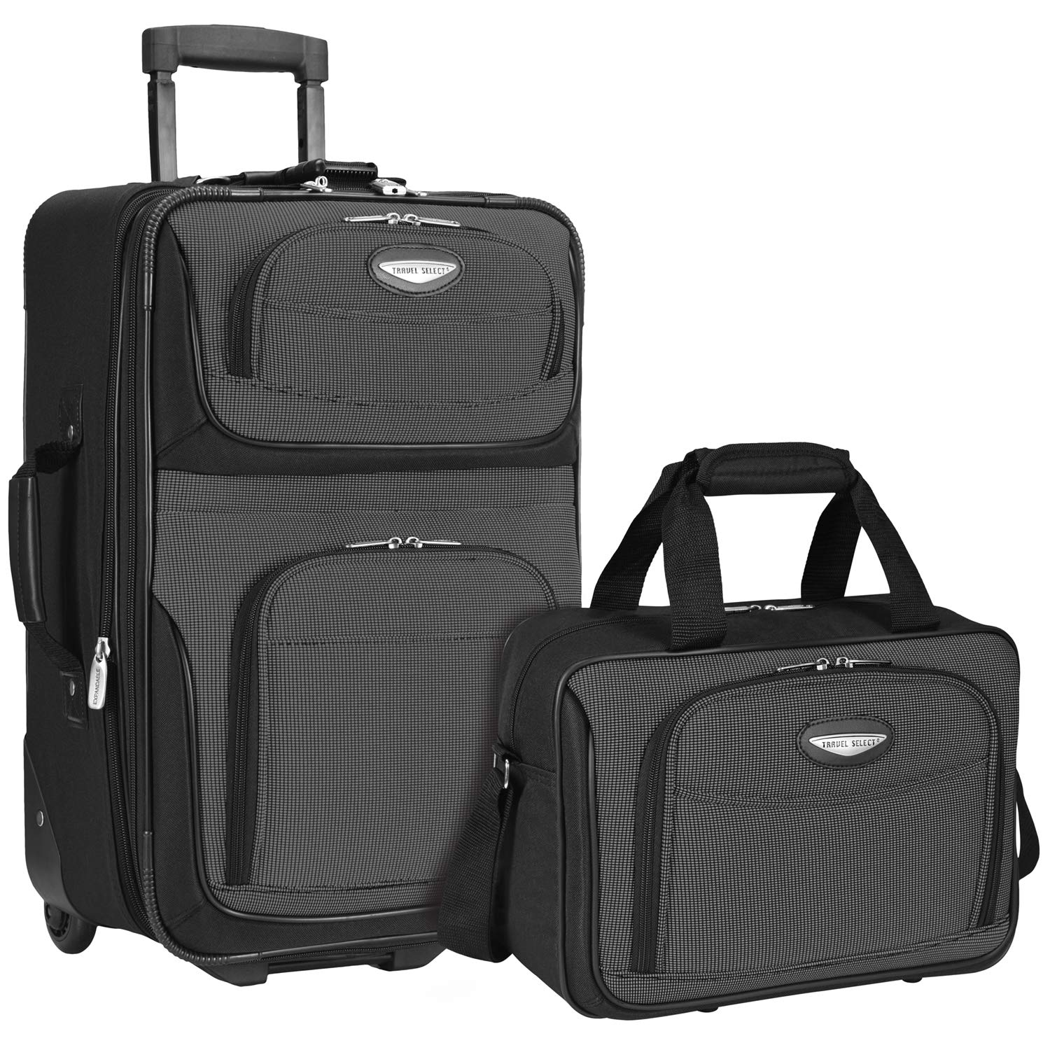 Travel Select Amsterdam 2-Piece Expandable Carry-On Luggage Set, Gray by Travel Select