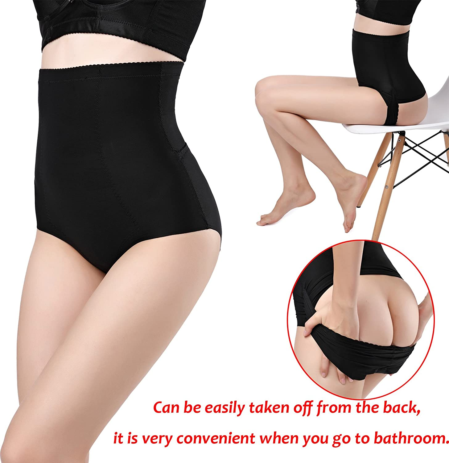 46462e4995 Amazon.com  DODOING Slimming Panty Postpartum Underwear Seamless Body Belly Shaper  Invisible Butt Lifter Tummy Control Panties High Waist Trainer Shapewear ...