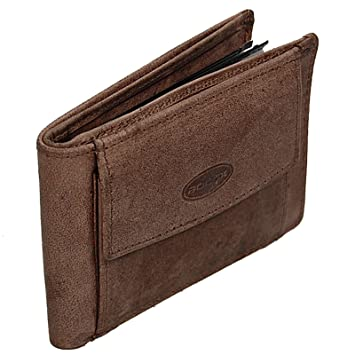 8cda2d9cd8c4c BOCCX Kleine Herren Geldbörse Leder Portemonnaie Geldbeutel Herrenbörse 16  Kartenfächer 40015 GoBago (Braun)