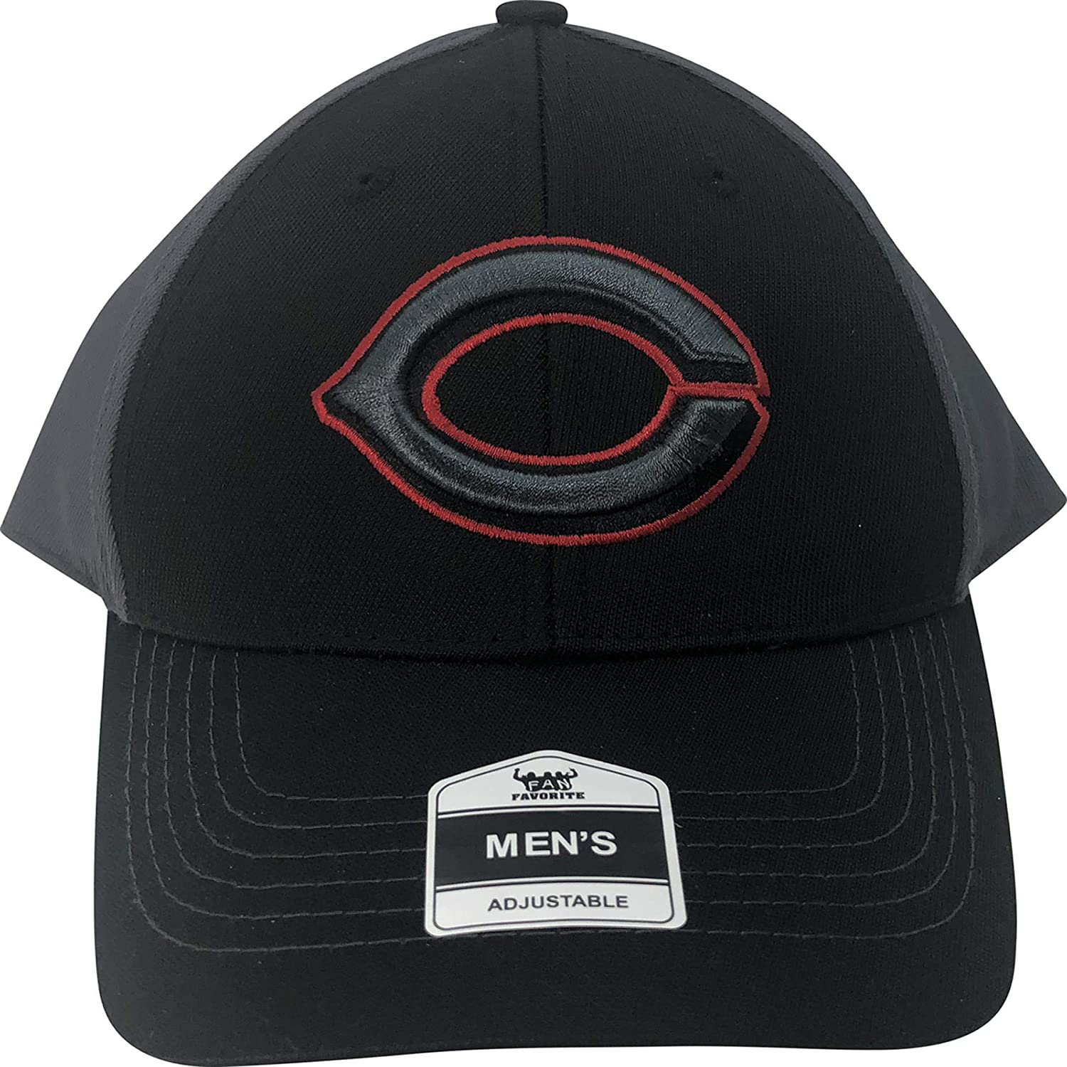 301a90221 Amazon.com : Fan Favorite MLB Cincinnati Reds Adjustable Hat Black : Sports  & Outdoors
