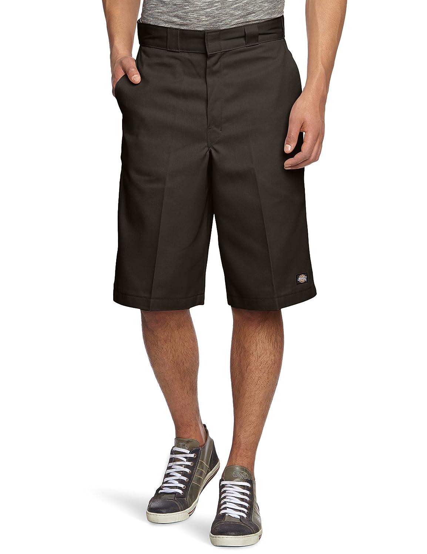 W28 Blue Navy Blue Dickies Mens 13-Inch Multi-Use Pocket Work Shorts