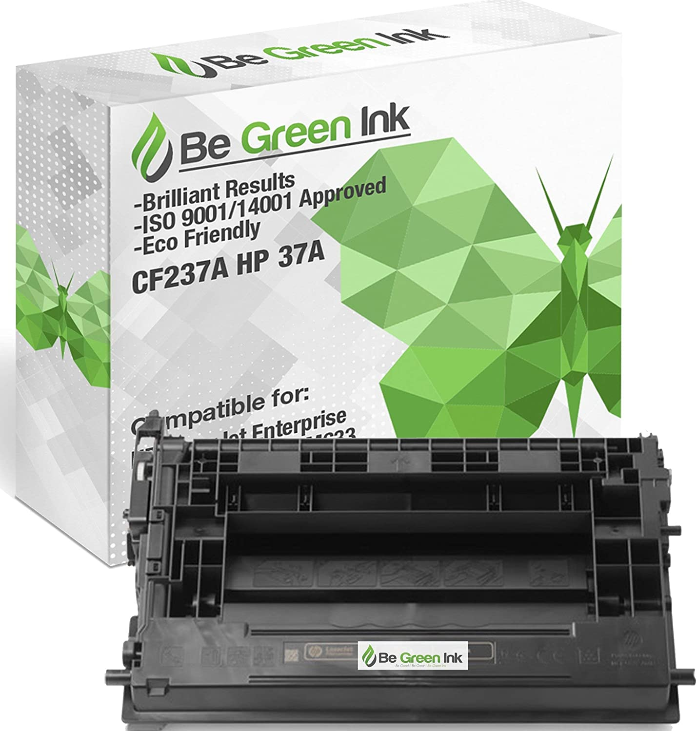 Be Green Ink 37A CF237A Compatible Toner Cartridge for HP Laserjet Enterprise M607 M607n M607dn M608 M608n M608dn M608x M609 M609dn, HP Laserjet Enterprise MFP M631 M632 M633 (1 Black – 11,000 Yield)