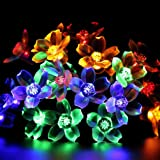 Uping Solar powered LED Fairy Lights 8 Mode String light 50er flowers 7M Multi color waterproof for Indoor Outdoor Party Garden Christmas Halloween Wedding Home Bedroom Yard Deck Decoration