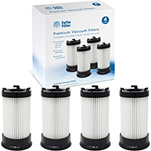 Fette Filter - HEPA Filter DCF-4, DCF-18 Compatible for Eureka. Compare to Part # 927 for Model # 62132 (Pack of 4)