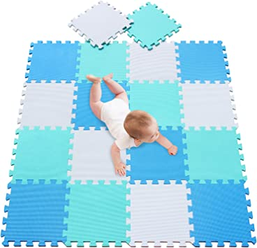 18pcs Floor Puzzle Mats Tiles Playmats Soft Antislip EVA Foam Kids Playmats