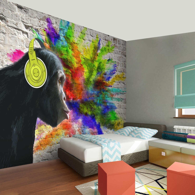 Tapisserie Photo Mur de pierre Graffiti 352 x 250 cm Laine papier peint Salon Chambre Bureau Couloir d/écoration Peinture murale d/écor mural moderne 100/% FABRIQU/É EN ALLEMAGNE 9169011a