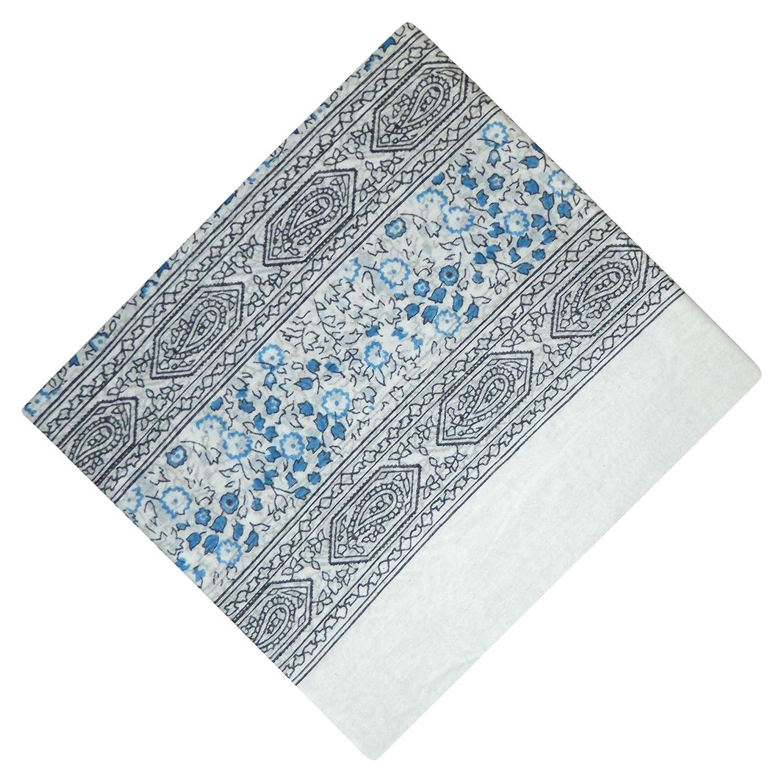 Halstuch Paisley Blumen wei/ß Baumwolle 100 x 100 cm bedruckt Bandana Kopftuch Schultertuch