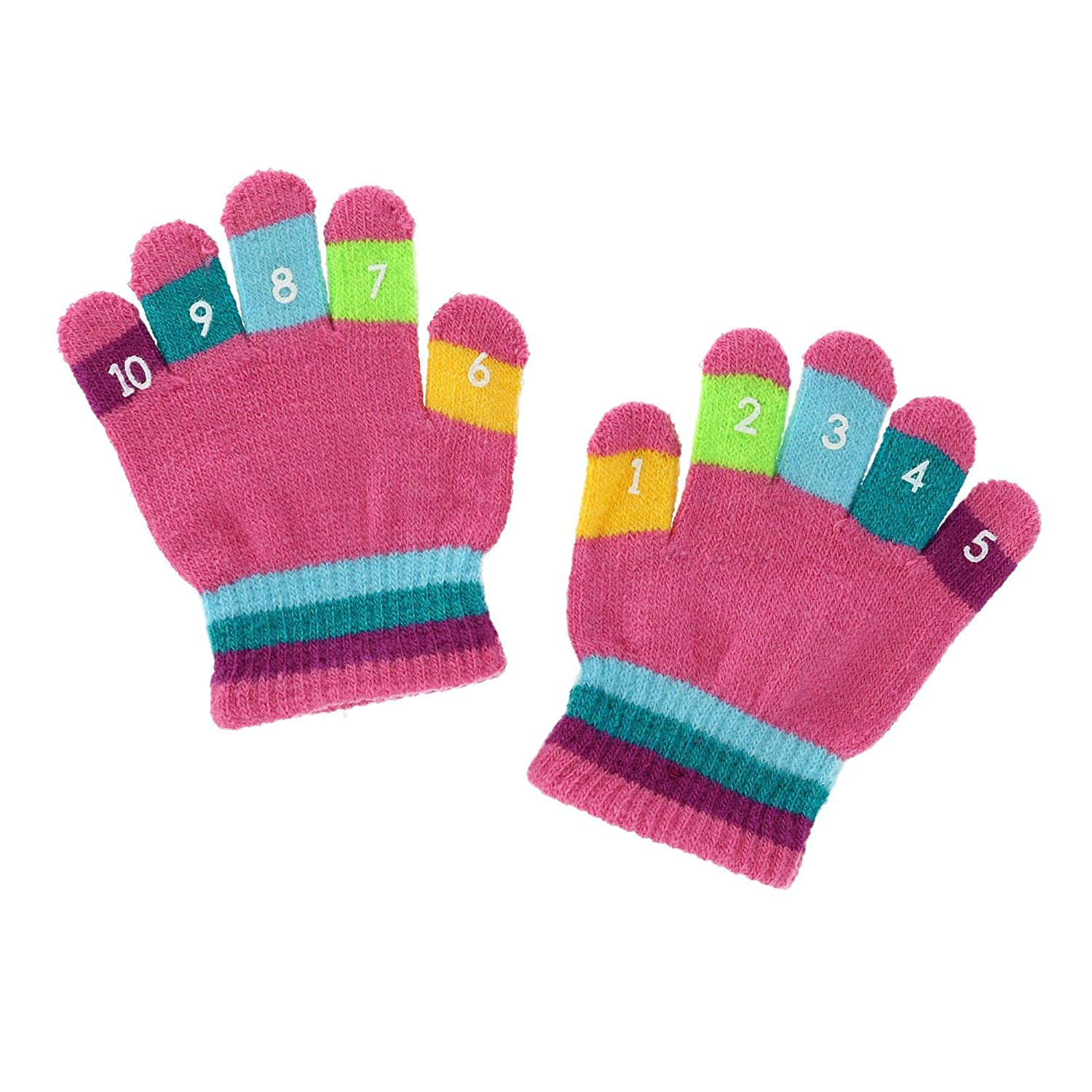 Grand Sierra Toddler 2-4T Knit Stretch Counting Gloves Blue