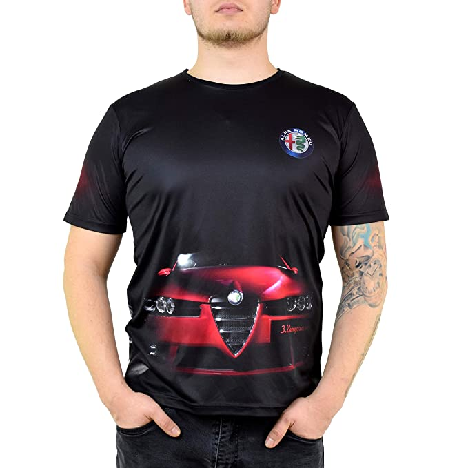 Amazon.com: Alfa Romeo Logotipo, color negro, 3.2 coche de ...