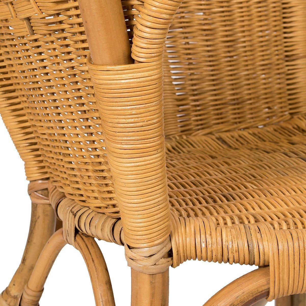 Lote de 2 sillones de mimbre Chris miel moderno y barato: Amazon.es ...
