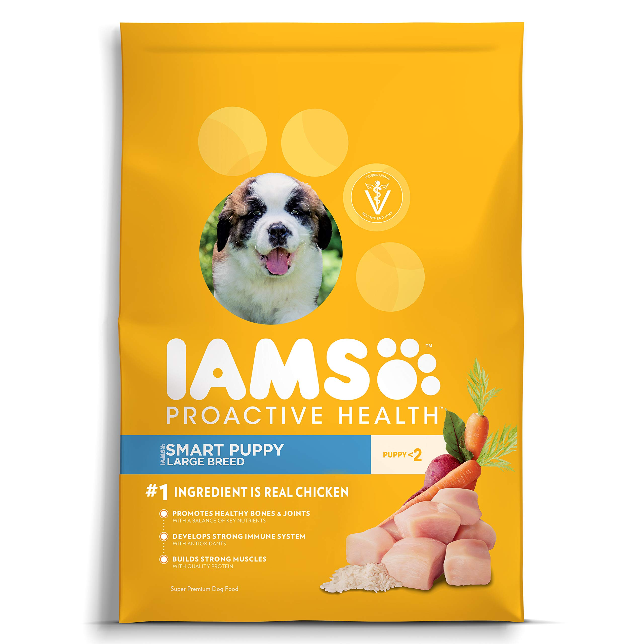 Iams Proactive Health Smart Puppy Large Breed Dry Dog Food Chicken, 30.6 Lb. Bag by Iams