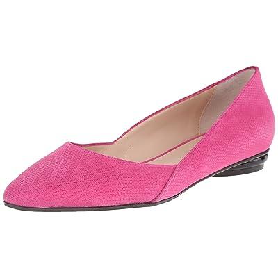 Amazon.com | Aquatalia Women's Kate Diamond Suede Ballet Flat, Fuchsia, 7 M US | Flats