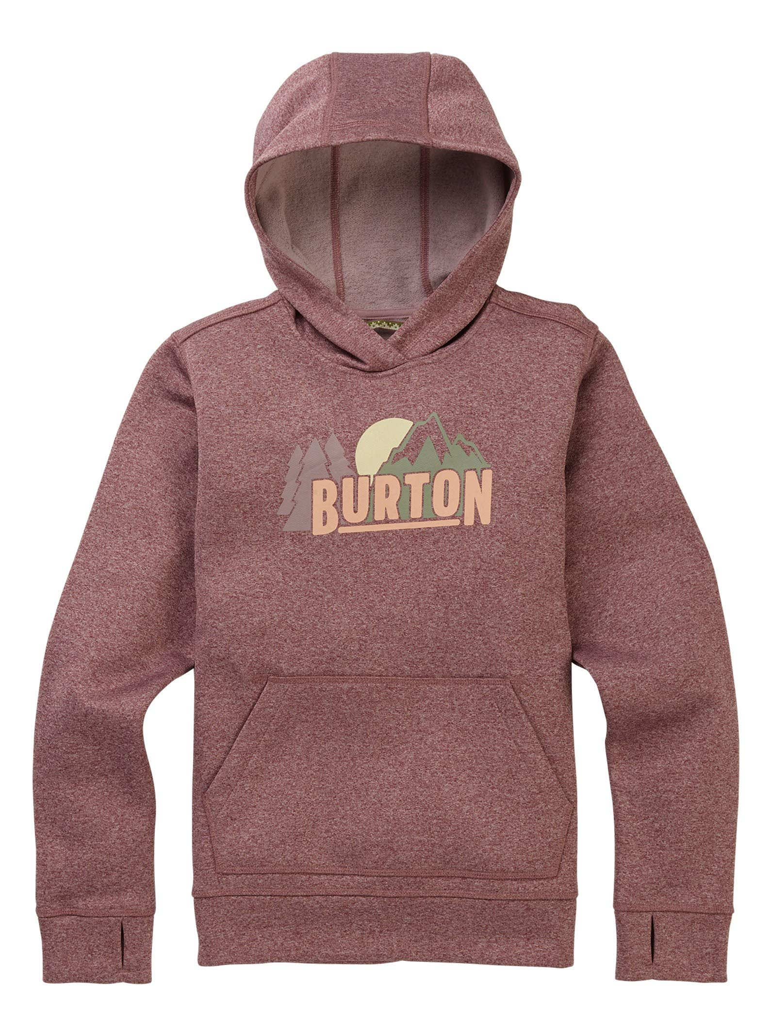 Burton Girls' Oak Pullover Hoodie, Flint Heather, Large by Burton