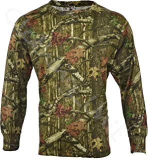 Mens Camouflage Forest Jungle Print LONG SLEEVE T Shirt Camo Full Sleeved Top