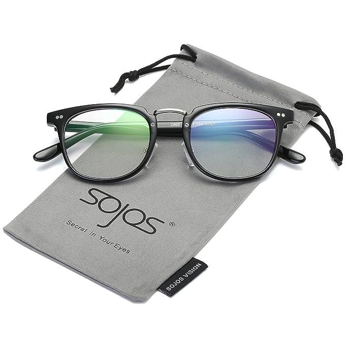 3cd04fa88a9 SojoS Square Reading Optical Glasses Eyeglasses Frame for Men and Women  SJ6005 With Bright Black Frame