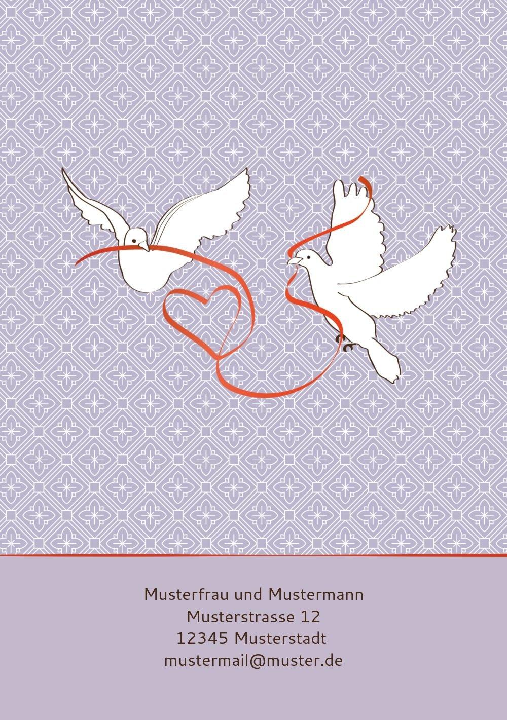 Kartenparadies Danksagung für Hochzeitsgeschenke Hochzeit Dankeskarte Turteltäubchen, hochwertige Danksagungskarte Danksagungskarte Danksagungskarte Hochzeitsglückwünsche inklusive Umschläge   20 Karten - (Format  105x148 mm) Farbe  DunkelgrauBraun B01NBX4IC8   Ch 98c000