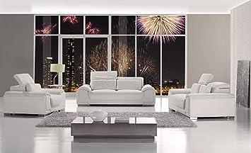 Amazon Com Vig Furniture T93 Contemporary White Leather