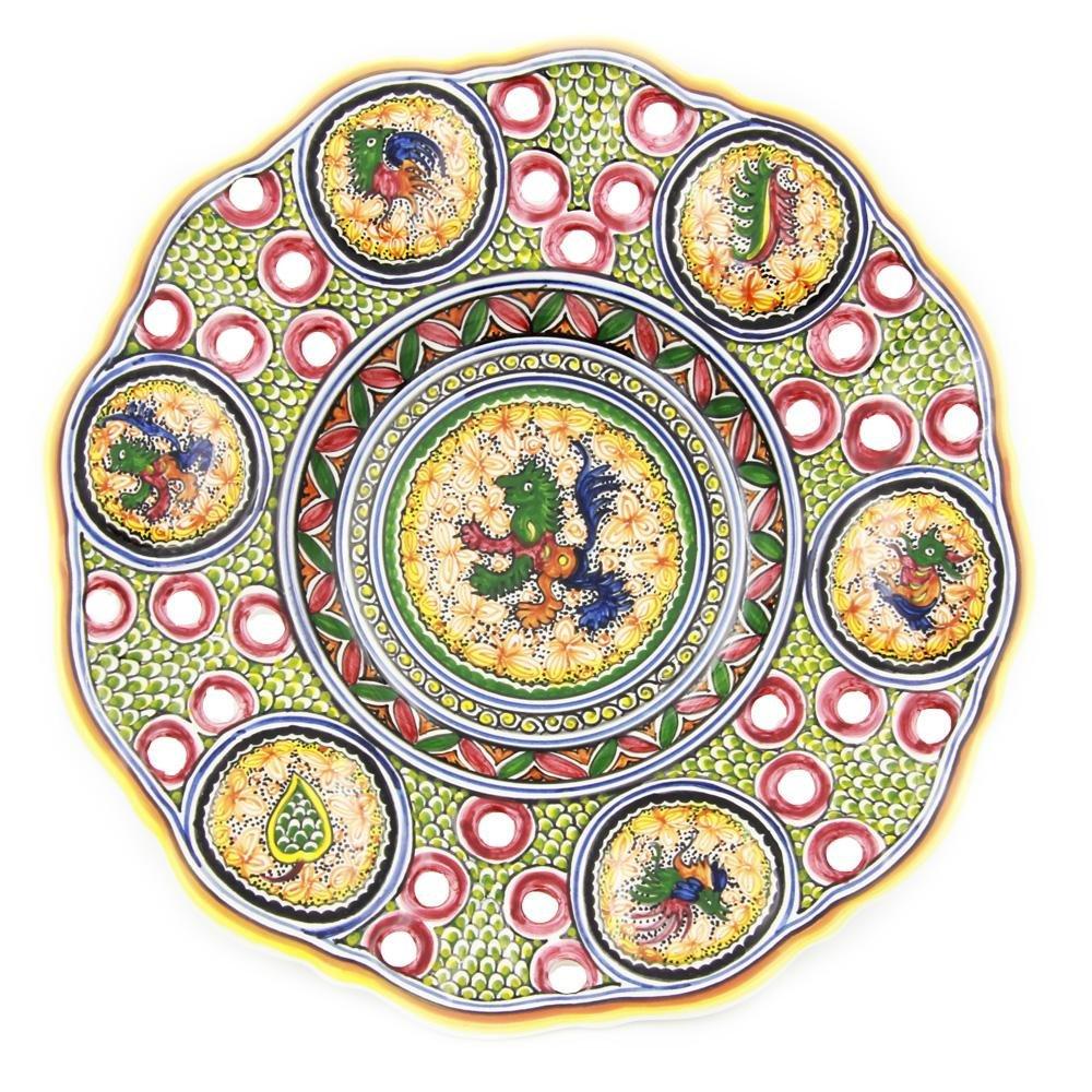 Coimbra Ceramics Hand Painted Decorative Wall Plate XV Century Recreation #192